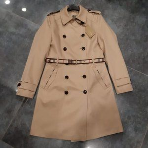 BURBERRY LONDON WOMENS COTTON CASUAL TRENCH COAT